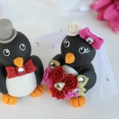 penguin cake topper, love bird cake topper, custom cake topper, wedding cake topper