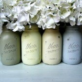 Nantucket Painted and Distressed Mason Jars