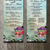 Dia De Los Muertes Sugar Skull Wedding Programs