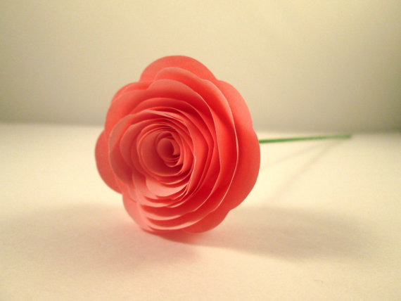 Paper Rose in Pink (by BookCraft via Emmaline Bride: The Marketplace)