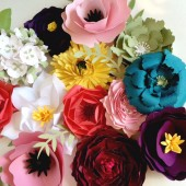 paper flower place cards