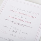 Parisian Chic Letterpress Invitation