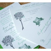 Park Bench Under Oak Tree Wedding Invitation