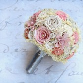 Peach Shabby Chic Bride\'s Bouquet