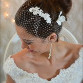 Pearl Beaded Lace Headpiece, comb, Lace comb,  Lace Headpiece, Pearl Beaded Lace Headpiece, lace bridal comb