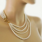 Bridal Pearl Necklace Layered