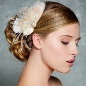 Peggy - Ivory bridal headpiece, vintage style fascinator