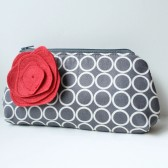 Clutch Purse and Flower Pin