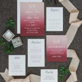 Rustic Ombre Wedding Invitation