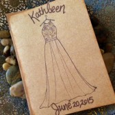 Bridal Shower Greeting Card for the Bride with HER Dress Replicated Hand Drawn