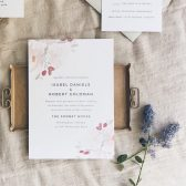 Watercolor Bouquet Wedding Invitations