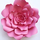 Paper Flower Template, DIY paper flower wall,