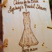 Personalized Bridal Shower Guest Book with a Replicated Silhouette of the Wedding Gown - SO Unique and a Keepsake