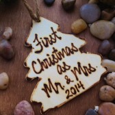 First Christmas as Mr. & Mrs. Personalized Christmas Tree Ornament
