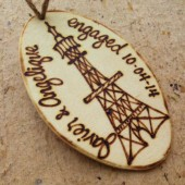Engaged in Paris?  Personalized Gift Tag with The Eiffel Tower Engagement Gift