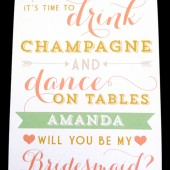 Will You Be My Bridesmaid / Drink Champagne and Dance on Tables