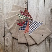 Set of Plaid Envelope Clutches