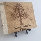 Personalized Engraved Rustic Wedding Guest Book, Wedding Guest Book, Engraved Wood, Rustic Wedding Guest Book