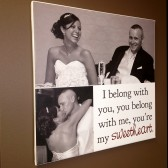 photo collage bride and groom canvas art