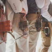 Leather Beer Holsters for your Groomsmen
