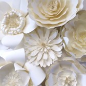 Large white paper flowers
