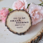 Wood Slice Scripture Magnet Wedding Collection