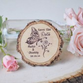 Butterfly Wood Slice Magnet