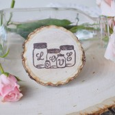 Love Mason Jar Favor Magnet
