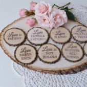 Corinthians Wood Slice Magnet Set