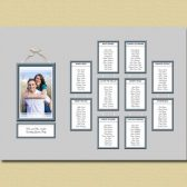 Photo Frame Wedding Seating Chart