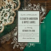 Floral Border Clear Wedding Invitations