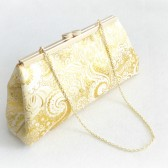 Gold Paisley Bridal Clutch