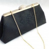 Black and Champagne Clutch