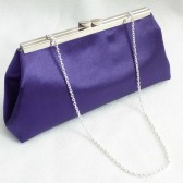 Regal Purple and Platinum Grey Bridal Clutch