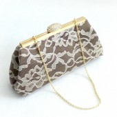 Chocolate and Champagne Bridal Clutch