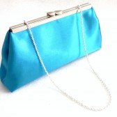 Teal and Black Bridal Clutch
