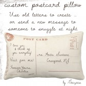 Custom Postcard Pillow