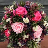 pink and dark pink bouquet