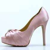 Pink Bridal Shoes with Rhinestones