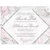 Pink & Gray Marble Save The Dates by The Spotted Olive