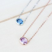 blue necklace,sapphire necklace,something blue,bride necklace,bridesmaid necklace,pink necklace,wedding jewelry