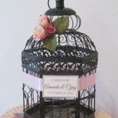 Vintage Style Birdcage Wedding Card Holder