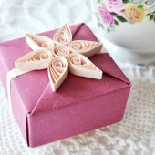 Pink and Plum Bridesmaids Gift Box with Gift Tag, Will You Be My Bridesmaid Gift