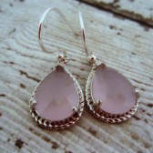 Pink Bridesmaid Earrings