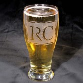Best Man Gift, Monogrammed Beer glass, pint glass