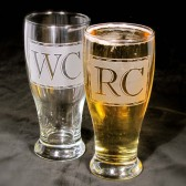 Pint glasses, personalized groomsmen gifts