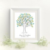 Thumbprint Tree Wedding Guest Book Print