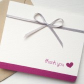 Plum Wedding Thank You Card
