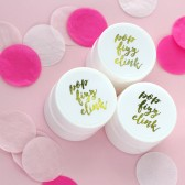 bachelorette favors, lip balm, last fling, pop fizz clink