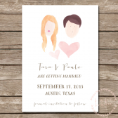 Custom Hand Painted Watercolor Save the Date